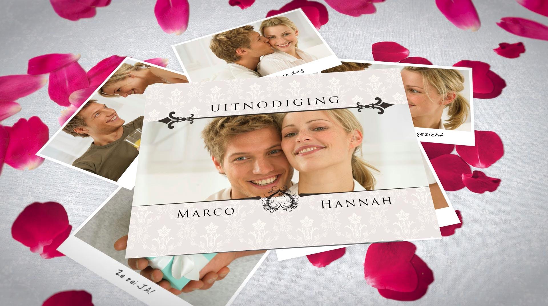 Digitale uitnodiging of save the date voor jullie huwelijk